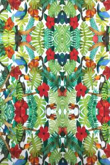 Cotton Broadcloth Tropical Digital Print0