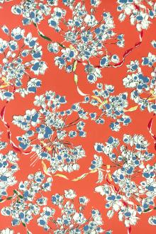 Printed Silk Crepe de Chine with Florals0
