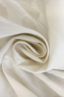 French Silk and Viscose Blend Moiré in Ivory0