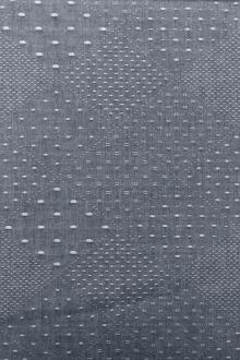 Cotton Chambray Jacquard With Argyle Pattern0