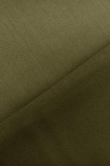 Italian Wool Satin Faille in Moss Green0