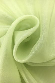 Microfiber Silver Metallic Chiffon in Light Green0