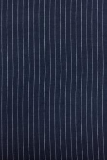 Cotton Striped Gauze in Indigo0