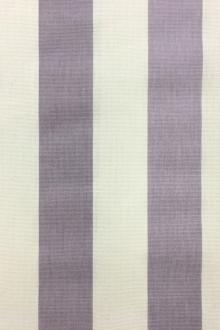"Cotton Canvas 1.5"" Stripe In Lilac And White0"