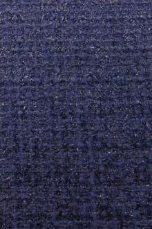 Wool and Nylon Lurex Tweed in Steel Blue0