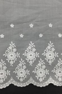 Swiss Cotton Embroidered Organdy0
