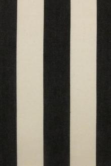 "Cotton Upholstery 1.5"" Stripe In Black And Pearl0"