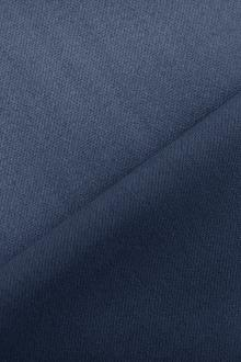 Italian Wool Satin Faille in Steel Blue0