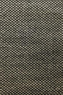 Japanese Textured Cotton Print in Charcoal0
