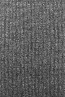 Poly Cotton Linen Blend Twill in Smoke Grey0