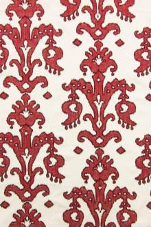 Embroidered Cotton Upholstery 0