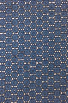 Italian Cotton Eyelet in Blue0