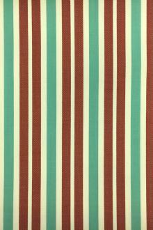 Wool Lycra Suiting Stripe in Maroon and Green0