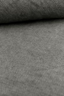 Stone Washed Linen In Tin Grey0