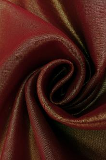 Microfiber Gold Metallic Chiffon in Wine0