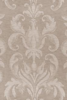 Poly Linen Double Gauze Filigree Damask in Blush0