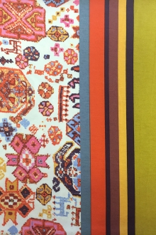 French Viscose Knit Multicolor Mediterranean Motifs0