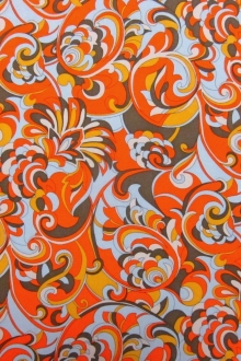 Printed Silk Charmeuse0