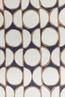 Cotton and Viscose Blend Light Weight Canvas with Geometric Patterns0