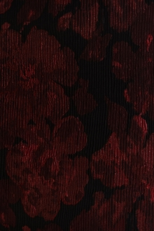 Metallic Matelassé Brocade with Faint Floral Jacquard Patterns0