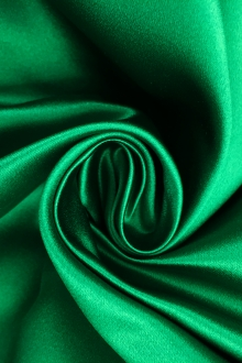 Italian Silk Duchesse Satin in Emerald0