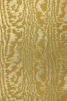 Metallic Moiré Brocade in Gold0