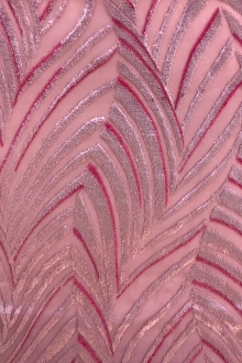 Rose Art Deco Silk Lurex Burnout Velvet0