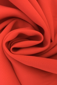 Polyester Stretch Crepe in Bright Red0