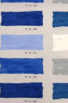 Cotton Palette of Blues Print0