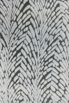 Burnout Velvet With Art Deco Pattern in Ice Grey0