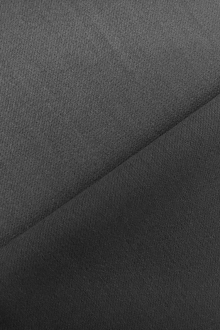 Italian Wool Satin Faille in Gunmetal0