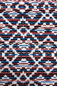 Cotton Blend Native Pattern in Red White Blues0