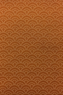 Japanese Cotton Print with Stippling Pattern in Burnt Orange0