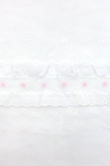 Novelty Ruffled Cotton Eyelet0
