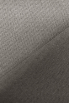 Italian Wool Satin Faille in Stone Grey0