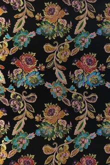 Heavy Jacquard Brocade with Colorful Florals 0