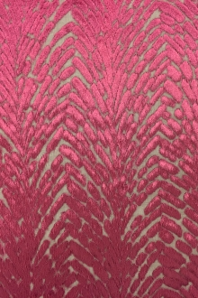 Burnout Velvet With Art Deco Pattern in Chianti0