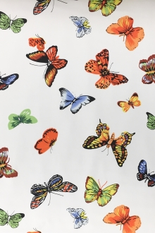 Printed Silk Charmeuse with Butterflies0