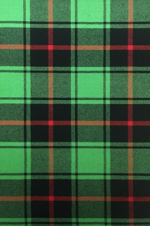 Italian Virgin Wool Tartan Plaid in Emerald 0