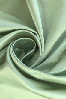Italian Silk Duchesse Satin in Spearmint0