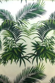 Tropical Palm Leaves Cotton Broadcloth Print0