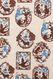 Japanese Linen Cotton Print0