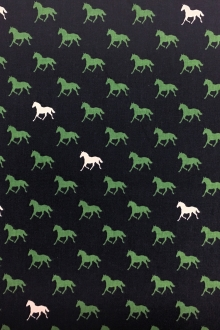 Cotton Broadcloth Equestrian Print0