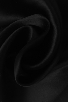 Italian Heavy Couture Silk Charmeuse in Black0