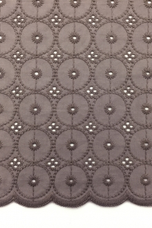 Cotton Eyelet in Taupe0