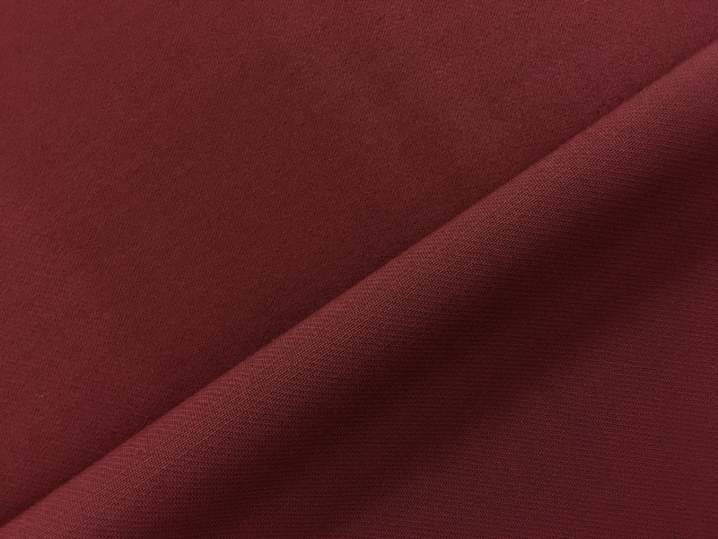 Italian Wool Satin Faille in Burgundy0