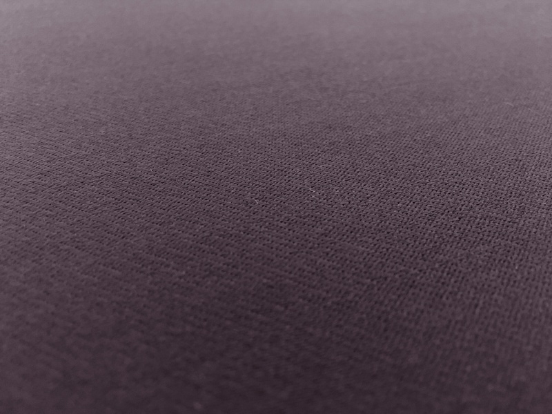 Italian Wool Satin Faille in Dark Purple2