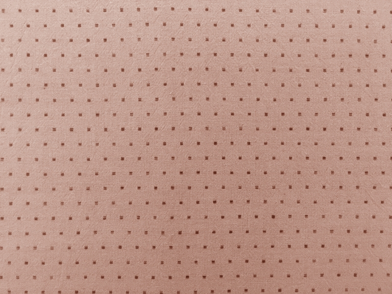 Japanese Cotton Woven Dots Novelty in Salmon Pink0