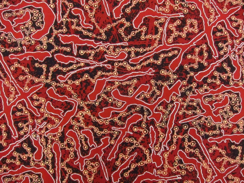 Australian Cotton Print With Aboriginal Motif0