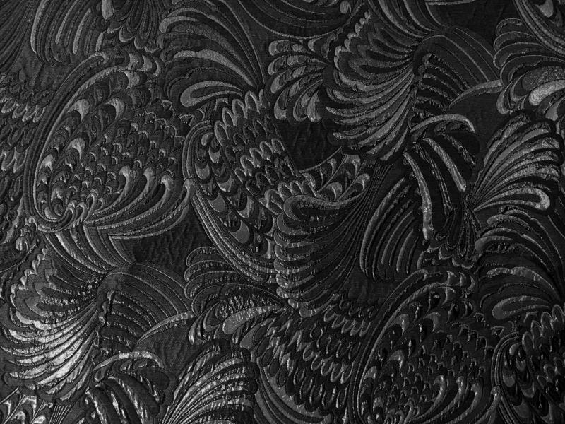 Metallic Brocade With Art Nouveau Patterns0